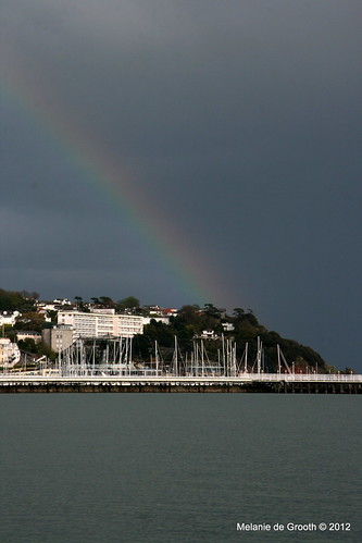 Rainbow over Torquay Harbour