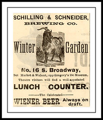 1885 January  St. Louis, MO - Schilling & Schneider, Brewing Co  Wiener Beer (carlylehold) Tags: street winter opportunity history robert beer saint st mobile museum brewing garden lunch se louis office branch counter stlouis 10c s it email here mo smartphone missouri join 10th 16 stories tmobile saloon weiner cor schilling draft happens 1885 schneider keeper signup gregorys bway haefner carlylehold cosidney solavei haefnerwirelessgmailcom