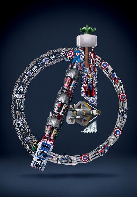 用玩具和日常生活用品組成的復仇者聯盟