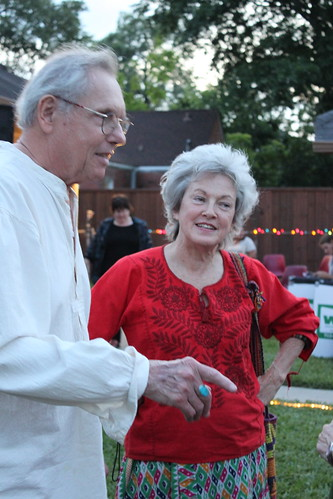 Artist Mary Margeret Hansen with Earl Staley