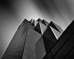 Geometrical Light (James Duckworth) Tags: longexposure atlanta windows sky up architecture contrast high geometry highcontrast le blocks geometrical walls buidling atlantaperspective