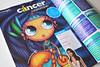 Cáncer en RevistaTU (Anita Mejia) Tags: blue illustration magazine magic cancer zodiac tu astrology ilustracion chocolatita anitamejia hroscope