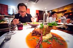 Patara (TGKW) Tags: alexis food london glass cuisine restaurant duck wine sauce eating soho leg plate crispy chef pineapple thai gauthier confit patara spiced 8394