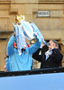 Roberto Mancini Manchester City Premier League Title victory parade. Players and staff of Manchester City parade the English Premier League Trophy through the city centre from an open-top bus Manchester, England