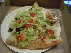 Salad Pizza (rastabagel) Tags: salad pizza newyorkpizza saladpizza saladslice