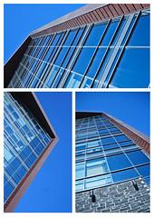 Levinsky building (Bradley Coles) Tags: city blue sky brown slr window glass metal architecture photoshop sony centre bricks plymouth montage tamron slt lightroom a55 1820mm