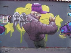 (Pixeljuice23) Tags: streetart graffiti grins mainz pixeljuice