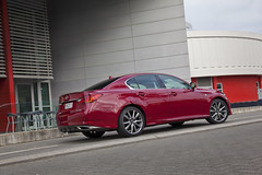 Lexus GS350 F Sport in Crimson - rear by cafe
