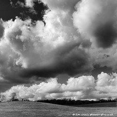 Heaton skyscape (jim ennis) Tags: blackandwhite clouds skyscape landscape scenic wideangle bigsky municipalpark heatonpark manchestercitycouncil squareframing