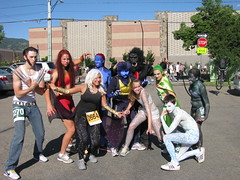 This year our group spent weeks designing our x-men costumes for the Bolder Boulder.