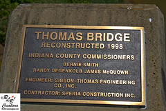 Thomas Covered Bridge (rbourque2) Tags: county bridge red creek wooden pennsylvania indiana pa covered crooked thoms rlb2creations rlb2photography