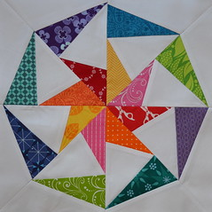 Block for Melissa (jenjohnston) Tags: star pinwheel quiltblock paperpieced quiltingbee
