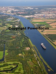 Heading for Amsterdam....the water city with a green ♥ (powerfocusfotografie) Tags: water netherlands amsterdam landscape canal ship view aerial northsea connection northseacanal noordzeekanaal powerfocusfotografie henkdeboer