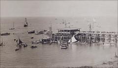 Vancouver BC English Bay Pier Regatta c.1908 (twoshedtunes) Tags: english sailboat photography bay pier historical regatta vancouverbc photograh edwardsbros