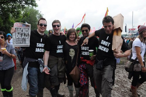 Grief stricken fans at Glastonbury 2009
