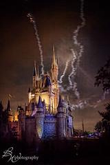 Cinderella's castle (betty wiley) Tags: park family vacation castle night amusement orlando display florida fireworks smoke celebration cinderella wdw waltdisneyworld attraction