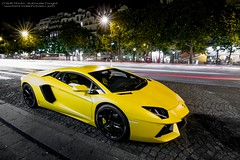 Matte Yellow [On Explore!] (U-Jack) Tags: paris yellow night jaune canon eos nightshot explorer 4 tokina explore lp 7d guillaume 700 lamborghini f28 supercar spotting matte sighting carspotting 1116 hypercar ujack worldcars carsighting aventador worlcars lp7004 fougl