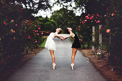 The Ballerinas (Danielle Pearce) Tags: girls light roses ballet art project shoe dance ballerina shoes dancers dancing dancer pointe satin tutu balet ballerinas balett balerina releve baletki baletka baletky