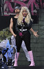 Nicki Minaj performing live on stage at BBC Radio 1's Hackney Weekend held at Hackney Marshes - Day 1 London, England