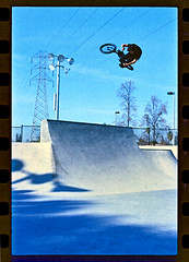 Chad Film Scan (Ryan Ogawa) Tags: ca film bmx pentax chad kodak cement scan skatepark f fresno spotmatic 100 canoscan kink ektar osburn 9000f