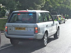 Unmarked Staffordshire Police Range Rover (07 Plate) (Emergency_Vehicles) Tags: road am or police vehicles torch if they olympic sure met staffordshire relay litchfield tamworth unmarked i