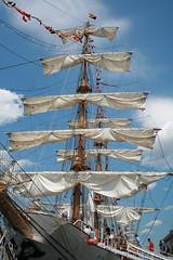 Sails (Read2me) Tags: ship boat white big boston harbor fishpier opsail blue sky frombelow lookingup pregamewinner gamewinner agcgwinner thechallengefactory 15challengeswinner gamex2sweepwinner x2 challengeyouwinner herowinner superherochallengewinner perpetualchallengewinner challengeclubwinner