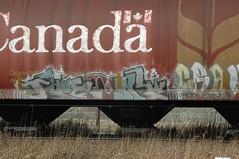 Happy Canada Day! (A & P Bench) Tags: canada train graffiti day graf canadian graff hopper freight fr8