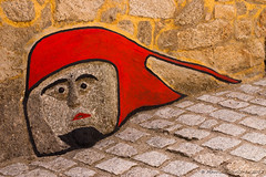 Cara (Maurizio Cerlienco) Tags: sardegna red muro art face wall graffiti sardinia faccia murale volto gavoi