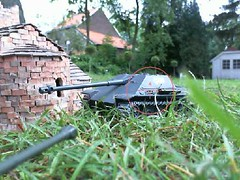 Pershing fires on Jagdpanther (Gampire) Tags: is moving side ii while combat fires pershing panzer immobilized jagdpanther