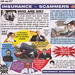 Viz Comic : Spoof Ad - Insurance Scammers 4u : Dubious Whiplash Injury - Staged Accidents Motoring Claims :