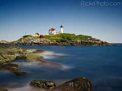 Nubble Point, York Harbor, ME [Explored] (RickrPhoto) Tags: new york 2 england lighthouse color me rose lens point landscape photography one harbor big soft long exposure angle zoom 10 wide maine rick hasselblad stop filter lee adapter nd hood h2 06 grad phase bellows hc density stopper neutral nubble p45 95mm 50110 rickr rickrphoto