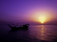 SunriseDhow (TorresKw) Tags: sea sunrise kuwait   kuw