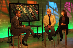 Beverly and Dereck on the NBC Today show Talking to Matt Lauer about the Lions & Leopards Exhibition (wildlifefilms) Tags: lion lions nationalgeographic leopards wildlifefilms dereckjoubert beverlyjoubert wildlifeconservationfilms dereckandbeverlyjoubert lionsandleopardsexhibition