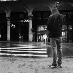 Across the street I'm waiting. (Alfredo.M) Tags: people bw italy canon italia streetphotography bn persone genoa genova s90