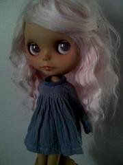 Piper<33 (JessAshlynn) Tags: pink alpaca angel hair toy doll soft dress handmade ooak blythe piper custom