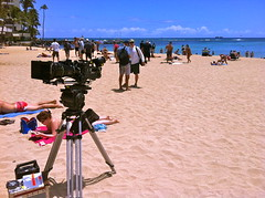 Hawaii 5-0 at Kaimana Beach. (jai Mansson's photography.) Tags: ocean camera usa cinema film beach television hawaii sand surf pacific waikiki oahu surfing hawaii production honolulu alexa filmmaking hidef arri kaimana panavision hawaii50 jaimansson
