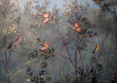 Painted Garden, Villa of Livia, detail with birds and fruit