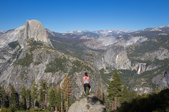 Overcomers (Boxa8) Tags: glacierpoint yosemite cliffs cliff rocks rock mountains outdoor nature landscape elevation altitude hikers hike sunset water fall waterfall climbing rockclimbing nevadafalls        ridge  cascada cascade desmontagnes bergen montaas acantilados kliffen cresta mountainscape