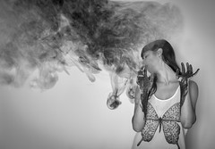 Ashes to ashes, dust to dust (Raquel Endless) Tags: cenizas humo ashes dust polvo autorretrato portrait selfportrait bw 50mm 52 project proyecto weeks