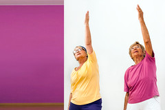 5 Benefits Of Pilates In Senior Years (ambotj) Tags: adult two athletic fit fitness generation lifestyle old elderly optimism shape people portrait seniors training casualwear workout wrinkly exercise exercising female healthcare seventies indoor ladies active sport wellbeing retired shapingup gym gymnastics oldpeople aged retirees goldenagers action humanface effort muscleexercise formalizing healthclub stretching aerobic spain