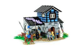 Cerulean Stables (soccersnyderi) Tags: brickfairva yeoldmerrybattleground lego castle moc creation model stables medieval