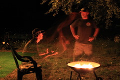 Me, myself and I (ET's Photo Home) Tags: multiplicity doorcounty eggharbor camping me fire nightshot campfire campsite upnorth wisconsin outdoors