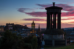 You, Me and the Sky (Kyoshi Masamune) Tags: edinburghcastle sigma1750mmf28 scotland sunset cityscape clouds cloudscape dugaldstewartmonument balmoralhotel balmoralclock kyoshimasamune princesstreet oldtown newtown militarytattoo edinburghmilitarytattoo scottmonument cokinfilters cokinnd8 nd8 caltonhill edinburgh scottishcastle uk