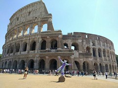 I'm in Rome! The collosseum is great! People are nice and also the police is great ^^ Thank you so much for the help Drachetto and Cody :') (Keenora Fluffball) Tags: keenora fursuit furry kee
