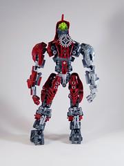 MOV - Banserko - Back (0nuku) Tags: bionicle lego toa sand fire stone banserko mazzal scythe gunblade hau komau