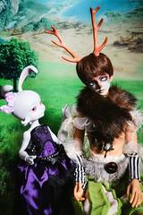 Pan and Loonette (lauradavison) Tags: bjd abjd resin doll sd male ringdoll twilight pan full set tanfantasy land landscape cerisedolls lillycat loonette bunny rabbit