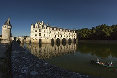 Chateau de Chenonceau 3 (photoautomotive) Tags: french france europe building 16thcentury chateau rivercher loirevalley arches old castle water river reflection reflections blue tower canon 50d 1740lmm