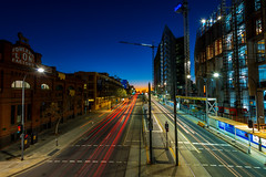 Adelaide Traffic Trails (Nathan Godwin) Tags: adelaide adelaidephotographer south city cityscape skyline skylinephotography sunset sunsetphotography sunsetporn sunsets australia australiansunset light trails lighttrails traffic