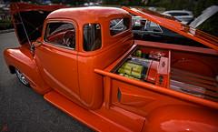 Mid-Engine truck at Lead East 2016 (Jersey JJ) Tags: lead east 2016 car auto show classic hot rod custom parsippany hilton j2 midengine pickup pick up truck orange