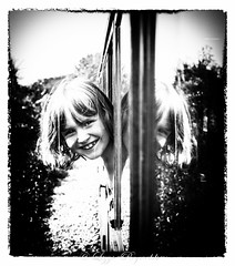 Bure Valley Railway. On the steam train from Wroxham to Aylsham. (lizzieisdizzy) Tags: steam train loco locomotive steampowered carriage window lookingout lookingback smile child steamtrainfanatic norfolk wroxhamtoaylsham
